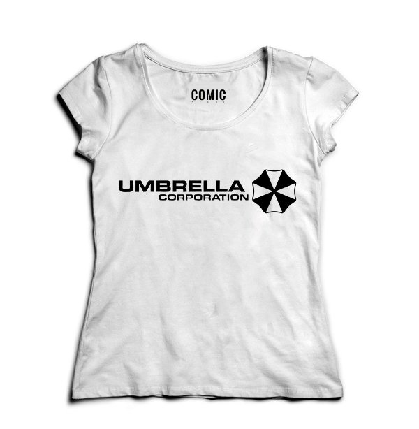 Camiseta Feminina Umbrella Corporation - Nerd e Geek - Presentes Criativos
