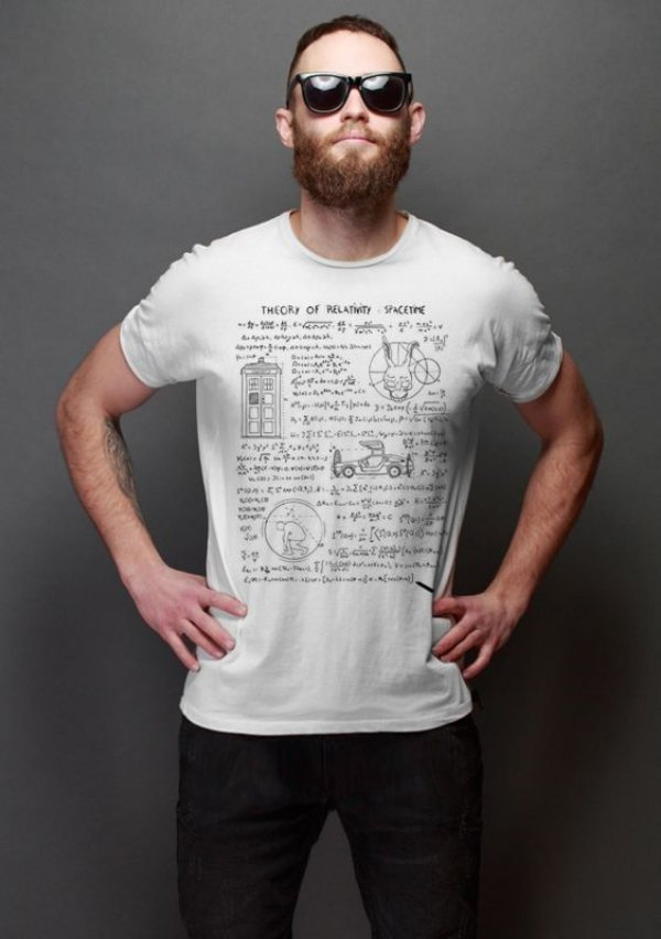 Camiseta Masculina  Theory of Relativity Space Time - Nerd e Geek - Presentes Criativos