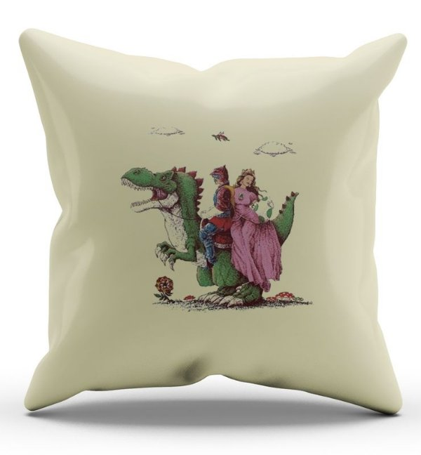 Almofada Decorativa  Princesa e Jurassic - Nerd e Geek - Presentes Criativos