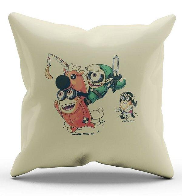 Almofada Decorativa  Minions 45 x 45 - Nerd e Geek - Presentes Criativos