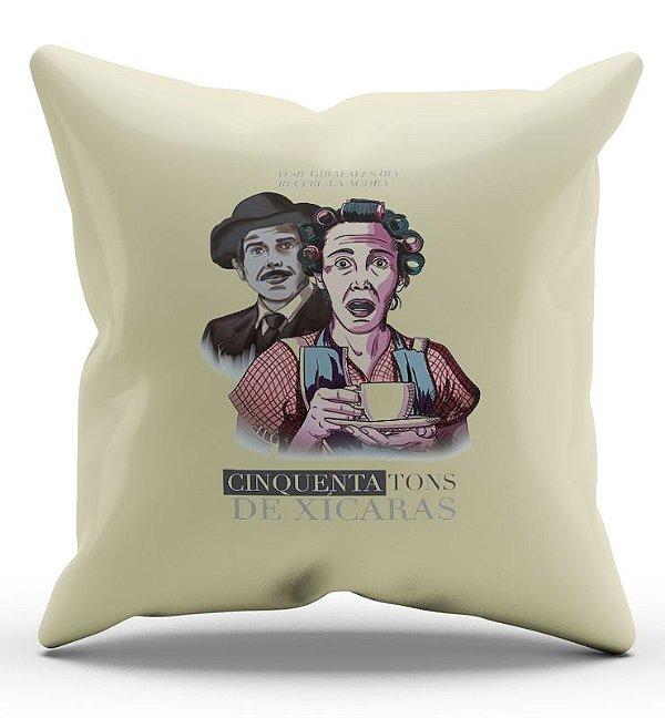 Almofada Decorativa  Chaves - Cinquenta Tons de Xicaras - Nerd e Geek - Presentes Criativos