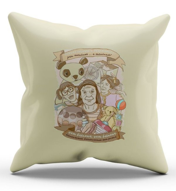 Almofada Decorativa  Turma do Chaves 45x45 - Nerd e Geek - Presentes Criativos