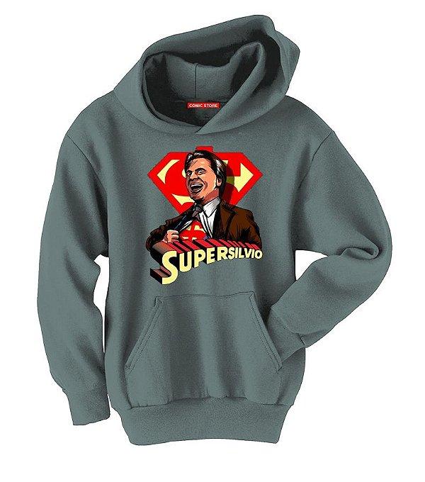 Blusa com Capuz Super Silvio