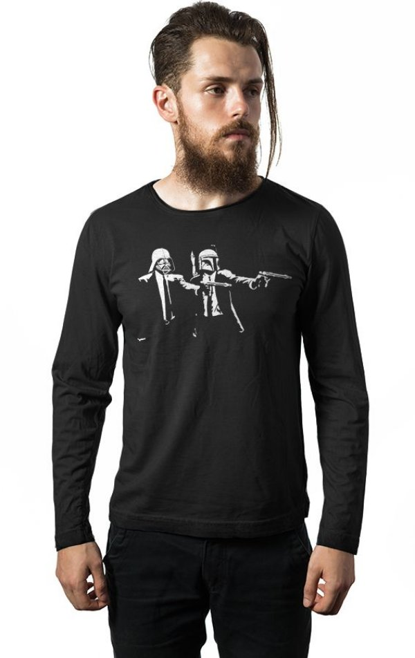 Camiseta Manga Longa Darth Vader e Boba