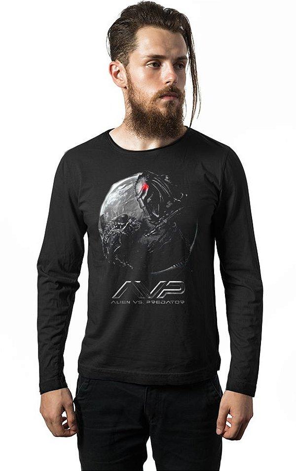 Camiseta Manga Longa Alien Vs Predador
