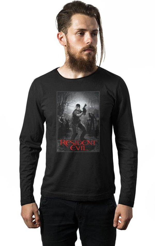 Camiseta Manga Longa Resident Evil