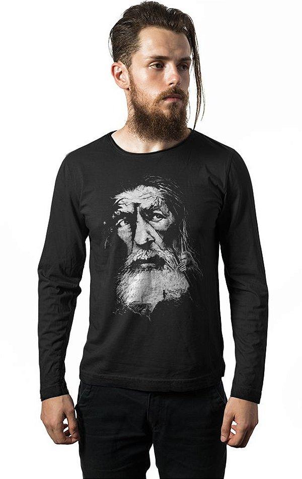Camiseta Manga Longa Gandalf Filme