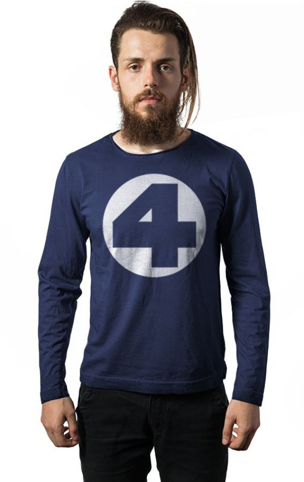 Camiseta Manga Longa Quarteto Fantastico