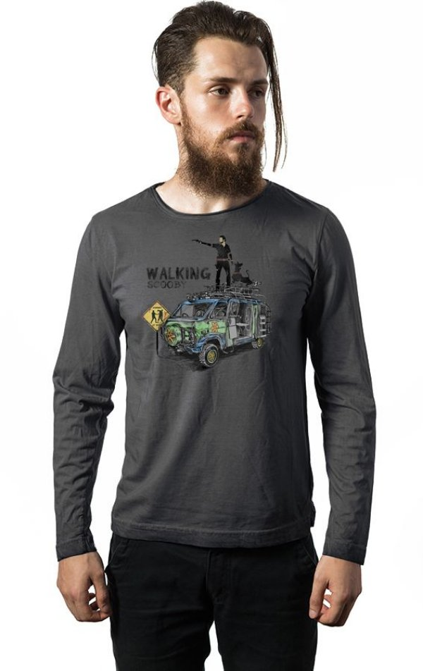Camiseta Masculina  Manga Longa The Walking Dead - Nerd e Geek - Presentes Criativos