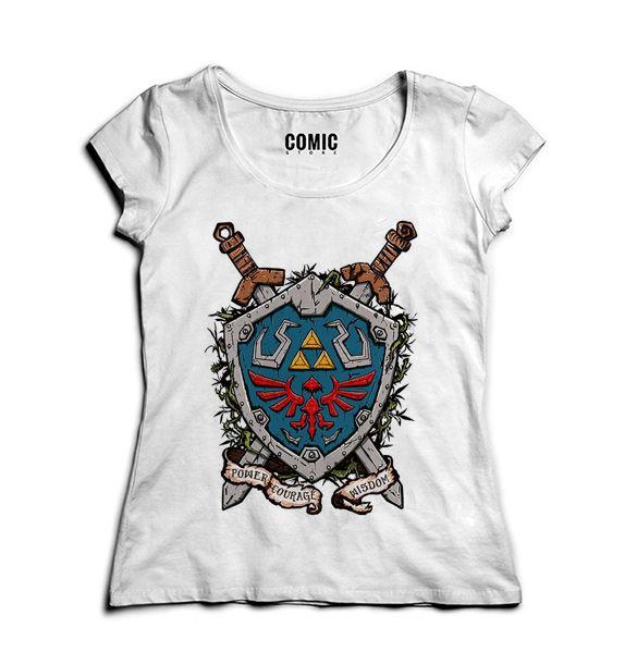 Camiseta Feminina Link - Escudo