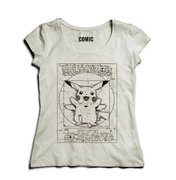 68837e3be9 Camiseta Feminina Pikachu - Nerd e Geek - Presentes Criativos ...