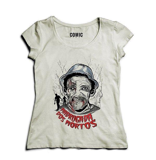 Camiseta Feminina Seu Madruga - Chaves - Nerd e Geek - Presentes Criativos