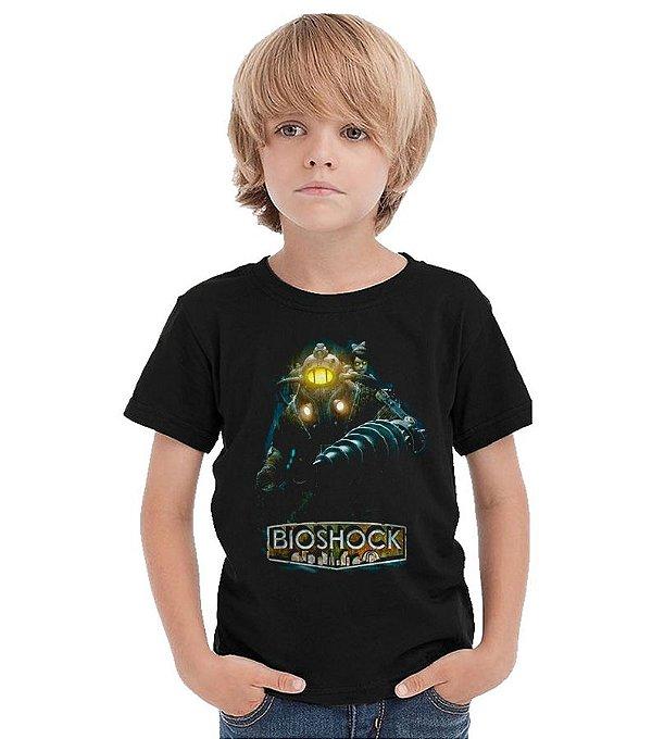 Camiseta Infantil BioShock - Nerd e Geek - Presentes Criativos