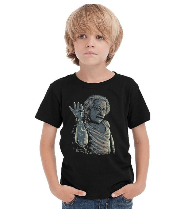 Camiseta Infantil Albert Einstein - Nerd e Geek - Presentes Criativos