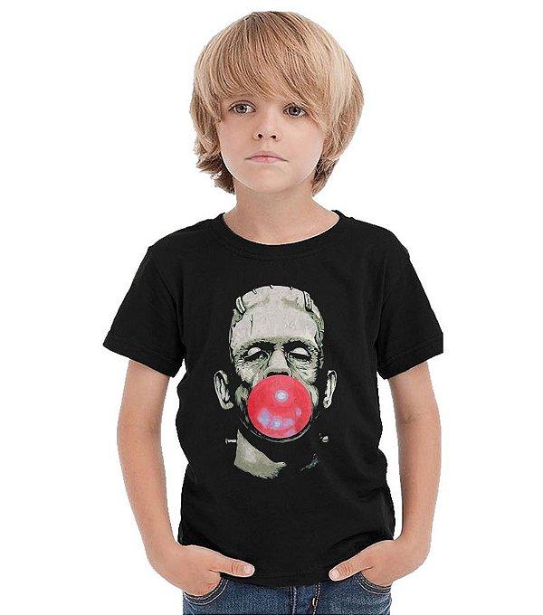 Camiseta Infantil Frankenstein - Nerd e Geek - Presentes Criativos