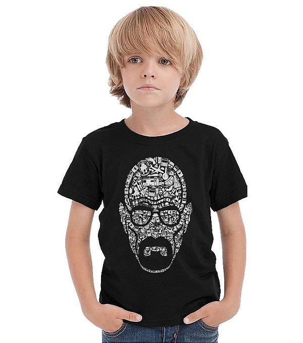 Camiseta Infantil Heiseberg - Nerd e Geek - Presentes Criativos