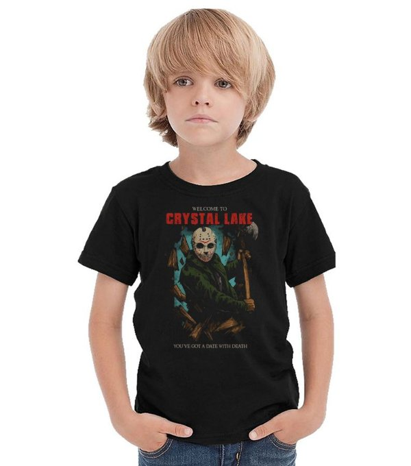 Camiseta Infantil Jason  - Nerd e Geek - Presentes Criativos