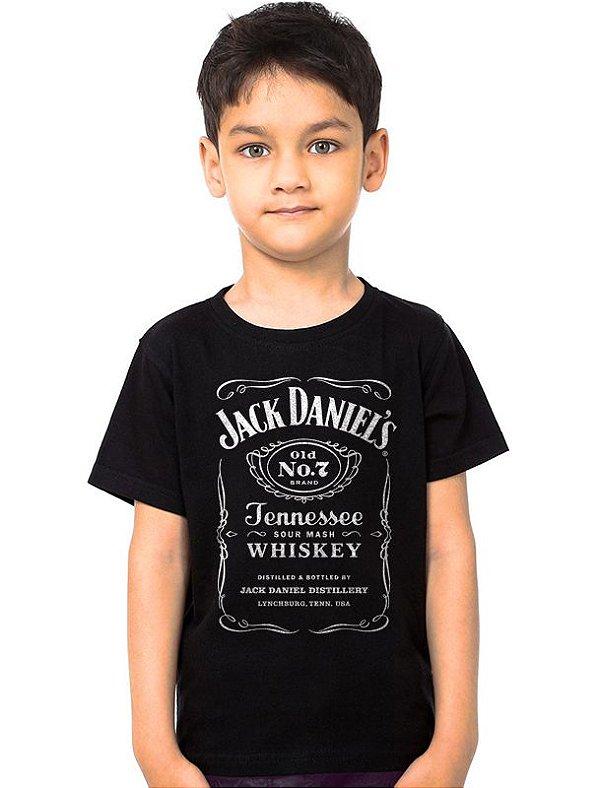 Camiseta Infantil Jack Daniels - Nerd e Geek - Presentes Criativos