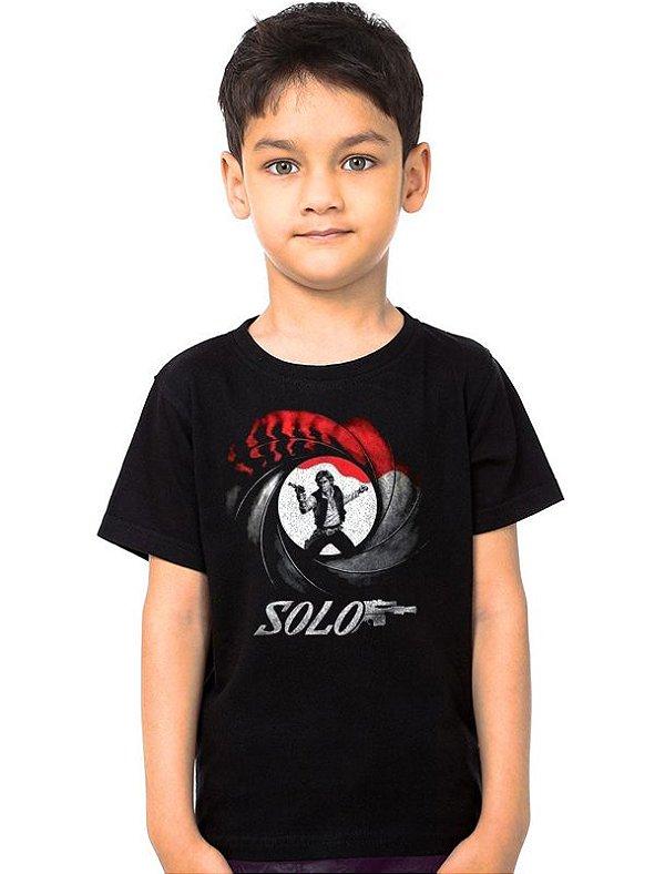 Camiseta Infantil 007 Han Solo