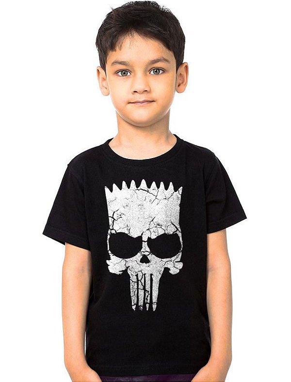 Camiseta Infantil Simpson Punisher   - Nerd e Geek - Presentes Criativos