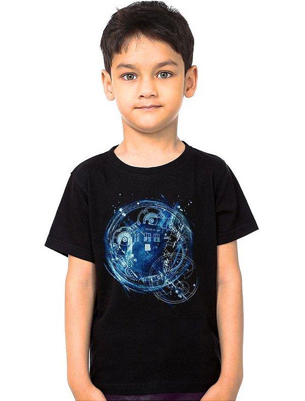 Camiseta Infantil Doctor Who - Nerd e Geek - Presentes Criativos