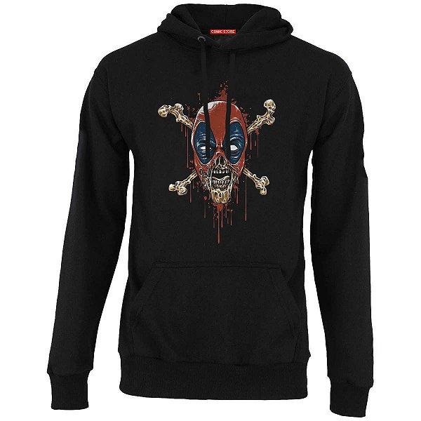 Blusa com Capuz Deadpool Skull