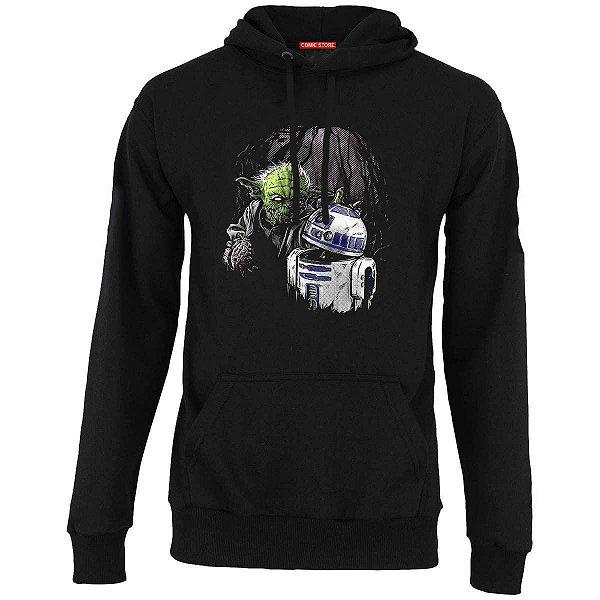 Blusa com Capuz Yoda e R2-D2 Zombie