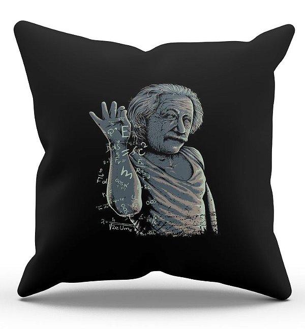 Almofada Decorativa  Albert Einstein 45x45 - Nerd e Geek - Presentes Criativos