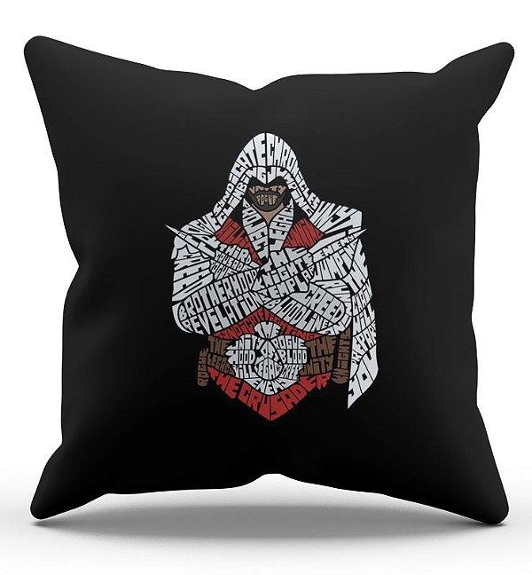 Almofada Decorativa  Assassin's Creed 45x45 - Nerd e Geek - Presentes Criativos