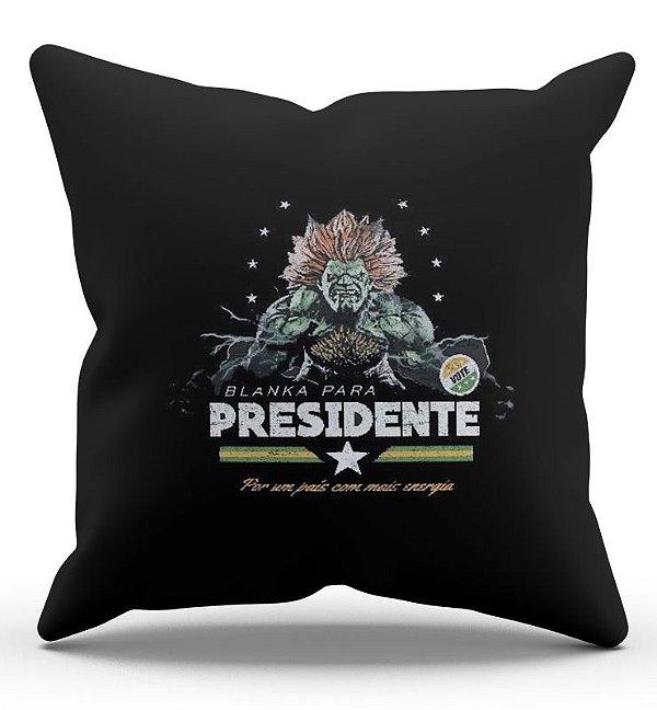Almofada Decorativa  Presidente Blanka 45x45 - Nerd e Geek - Presentes Criativos