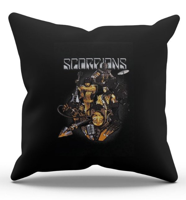Almofada Decorativa  Scorpions 45x45 - Nerd e Geek - Presentes Criativos