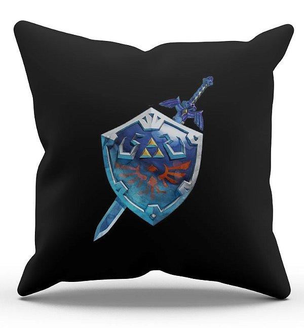 Almofada Decorativa  Escudo Link  45x45 - Nerd e Geek - Presentes Criativos