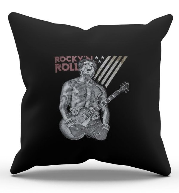 Almofada Decorativa  Rock Roll 45x45 - Nerd e Geek - Presentes Criativos