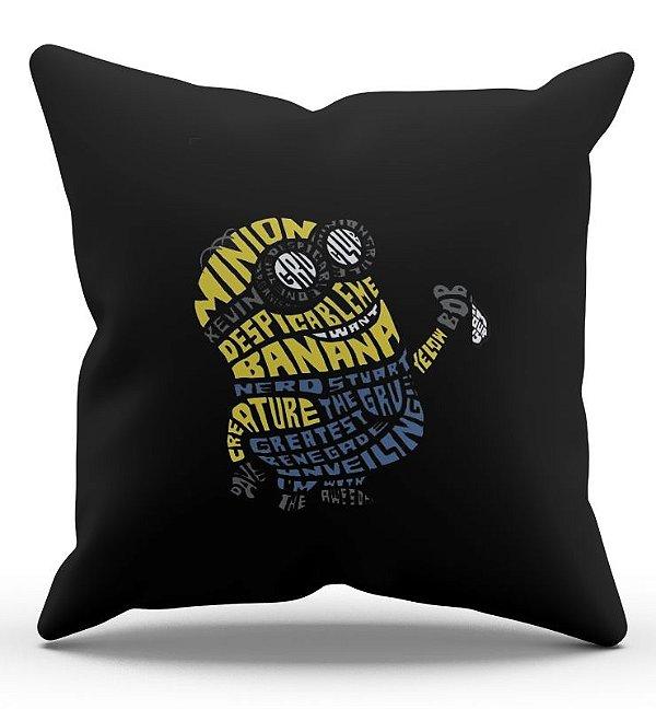 Almofada Decorativa  Minions 45x45 - Nerd e Geek - Presentes Criativos