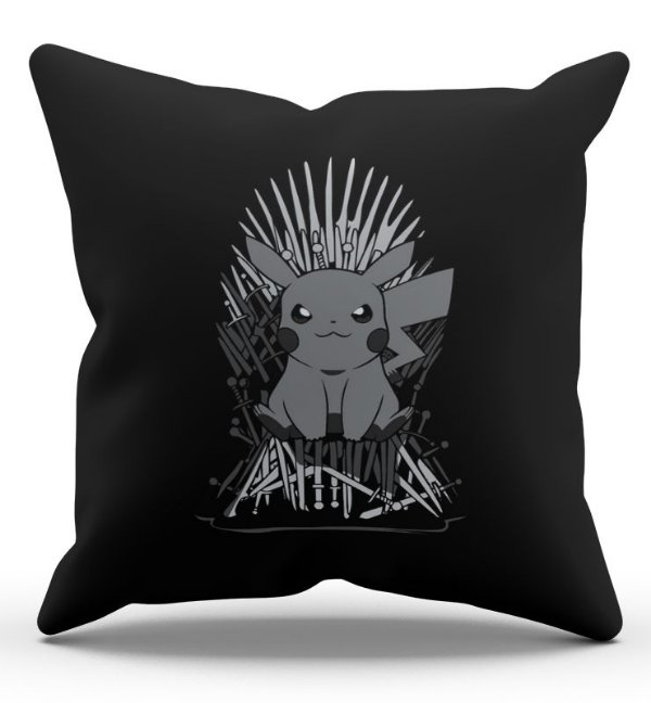 Almofada Decorativa  Game of Pikachu  45x45 - Nerd e Geek - Presentes Criativos