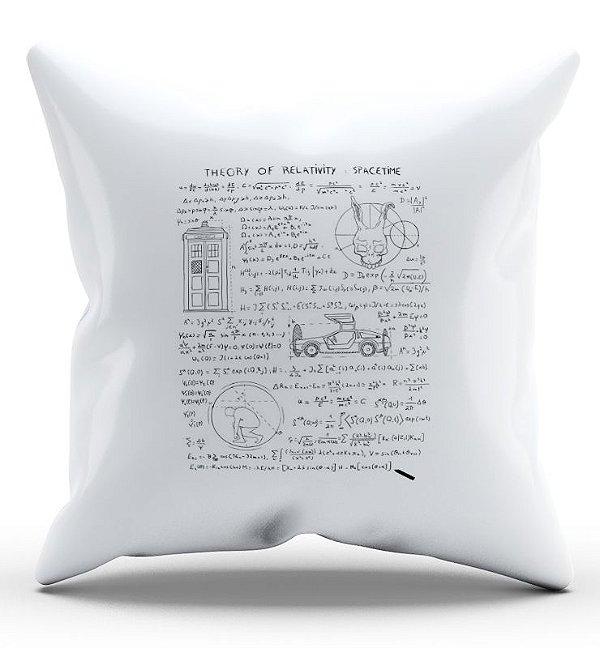 Almofada Decorativa  Formula da Relatividade 45x45 - Nerd e Geek - Presentes Criativos