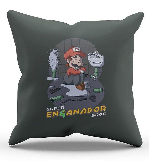 Almofada Decorativa  Super Mario 45x45 - Nerd e Geek - Presentes Criativos