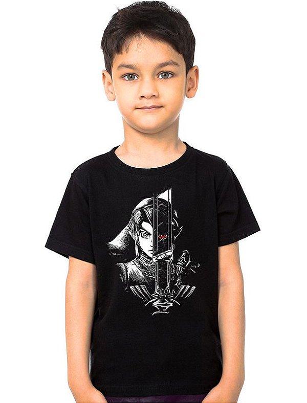 Camiseta Infantil Zelda Dark - Nerd e Geek - Presentes Criativos