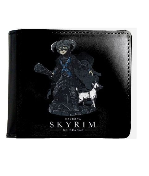 Carteira SKYRIM Caverna do Dragao - Nerd e Geek - Presentes Criativos