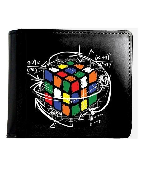 Carteira  Cubo Mágico - Nerd e Geek - Presentes Criativos