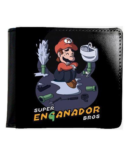 Carteira Super Mario Enganador Bros - Nerd e Geek - Presentes Criativos