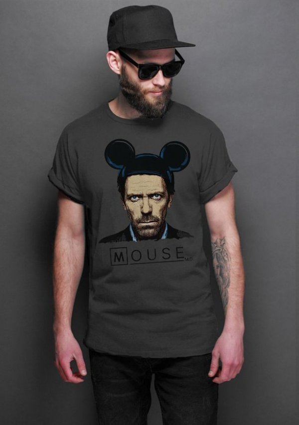 Camiseta Masculina   Dr House: Mouse - Nerd e Geek - Presentes Criativos