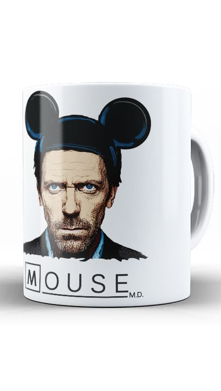 Caneca Dr House: Mouse - Nerd e Geek - Presentes Criativos