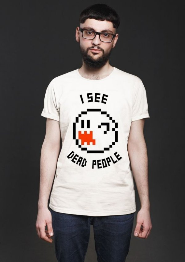 Camiseta Masculina  I see dead people - Nerd e Geek - Presentes Criativos