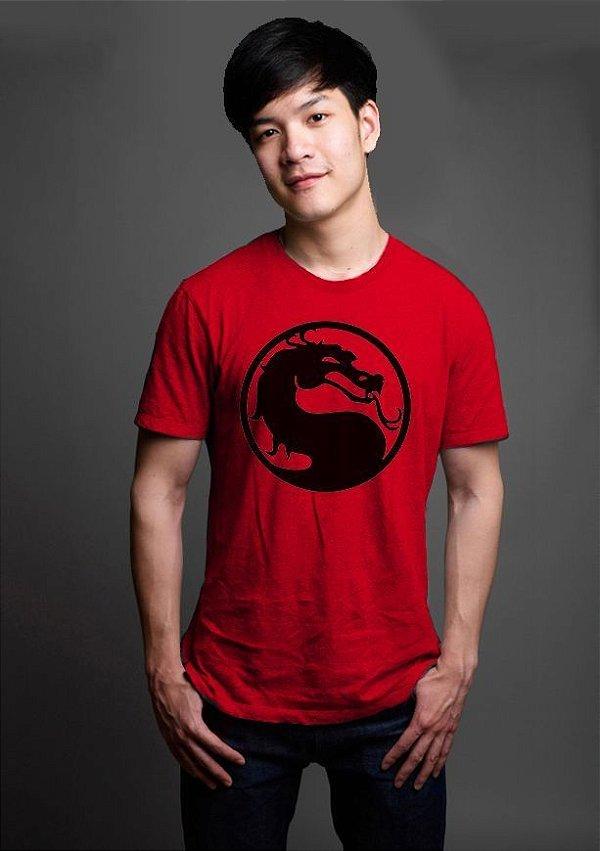 Camiseta Masculina  Mortal Kombat - Nerd e Geek - Presentes Criativos