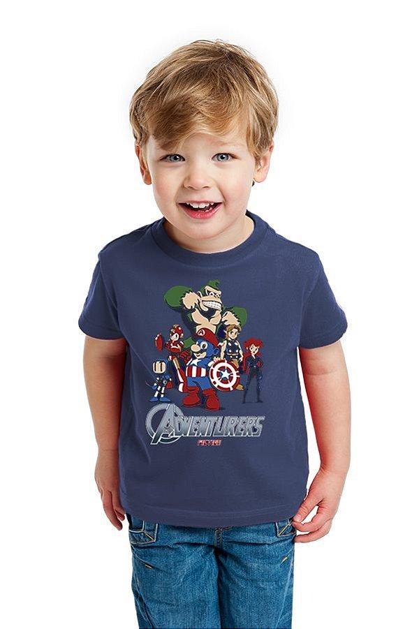 Camiseta Infantil  Herois - Nerd e Geek - Presentes Criativos