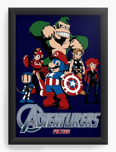 Quadro Decorativo Herois - Nerd e Geek - Presentes Criativos