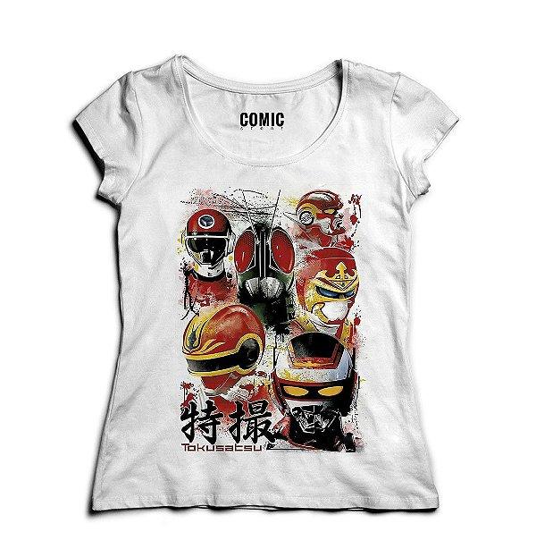 Camiseta Feminina Jaspion - Nerd e Geek - Presentes Criativos
