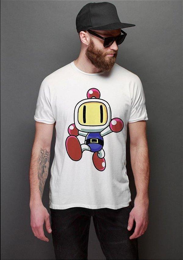 Camiseta Masculina  Bomberman - Nerd e Geek - Presentes Criativos