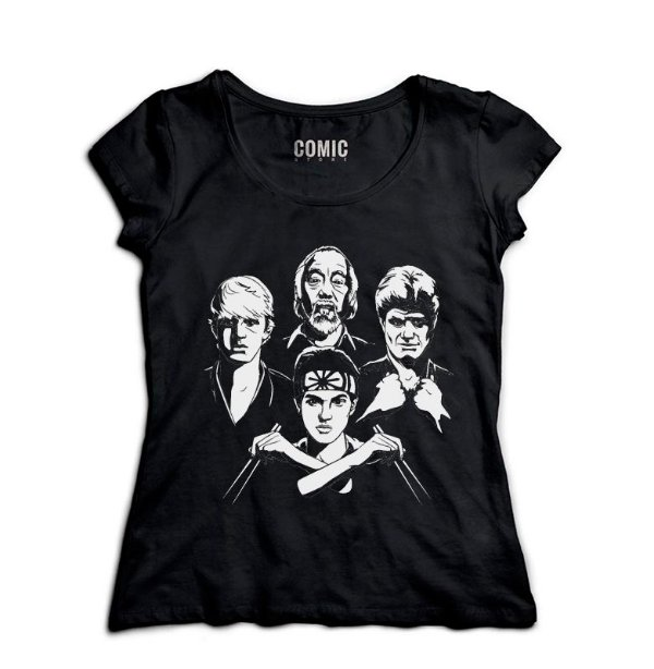 Camiseta Feminina Karate Kid - Nerd e Geek - Presentes Criativos